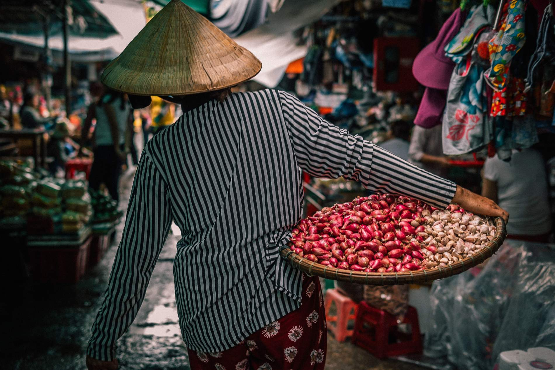 Visiting The Can Tho floating market in Vietnam